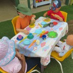 Playground tea party